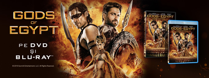 Blockbusterul Gods of Egypt s-a lansat pe Blu-ray si DVD